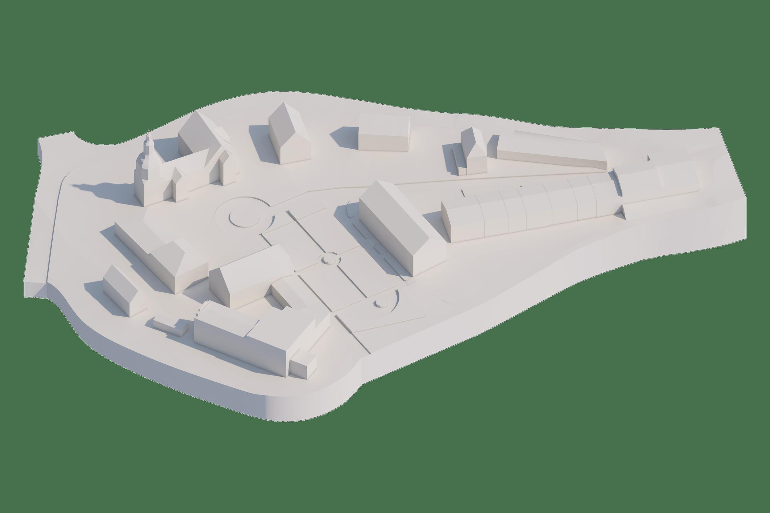 3D-Modell Schlossareal